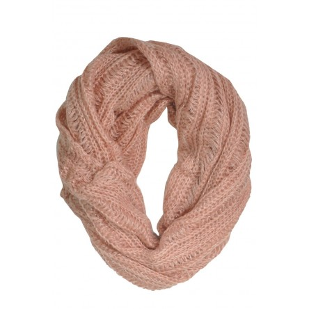 LUCE KNITTED SNOOD BLUSH PINK