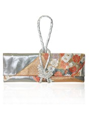 FLOWER GARDEN.1 OBI KNOT LEATHER STRAP CLUTCH - Sold Out