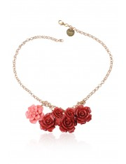 ROSE BOUQUET 18-KARAT GOLD-PLATED NECKLACE