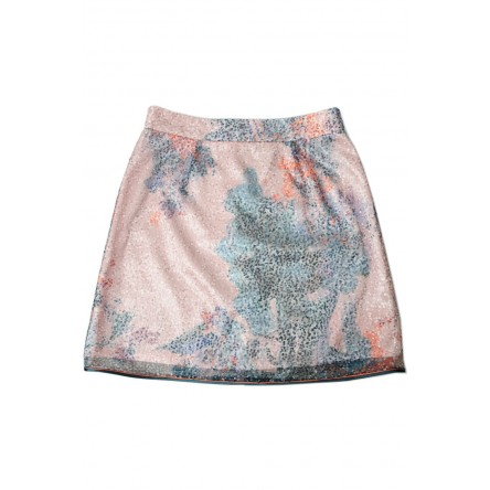 ELIE SEQUINED CORAL SKIRT
