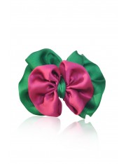 LIAH SATIN-FLOWER HAIR CLIP APPLE MAGENTA