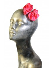 LIAH SATIN-FLOWER HAIR CLIP ICED ROSE