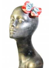 LIAH SATIN-FLOWER HAIR CLIP ICED MINT