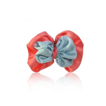 LIAH SATIN-FLOWER HAIR CLIP ICED MINT