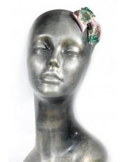 LIRA HAIR CLIP クリスタルで宝飾されたヘアクリップ(ダスク・ピンク)