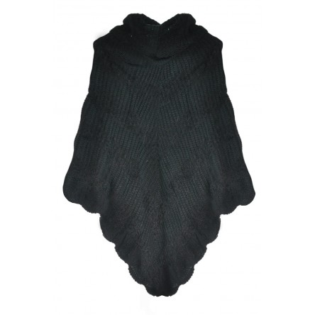 CHELSEA KNIT PONCHO JET BLACK - Sold Out