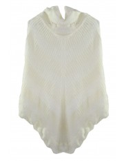 CHELSEA KNIT PONCHO WHITE - Sold Out