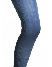 THIGH-HIGH SOFT-KNIT NAVY SOCKS