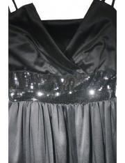 SATINE BLACK DRESS
