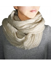 LUCE KNITTED SNOOD WARM BEIGE