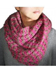 LUCE KNITTED SNOOD MAGENTA