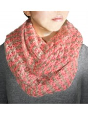 LUCE KNITTED SNOOD NEON PINK