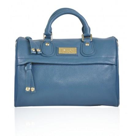 KENT LEATHER BAG SAPPHIRE BLUE