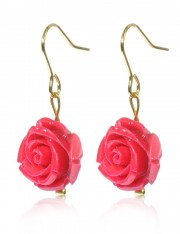 BLOOM COLLECTION: ROSE CORAL EARRINGS BLUSH PINK