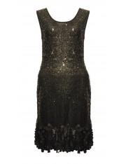 KIA SEQUINED BLACK DRESS