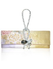 DHALIA.1 OBI KNOT LEATHER STRAP CLUTCH - Sold Out