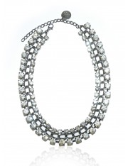 JULIAN CRYSTAL NECKLACE OXIDIZED - Sold Out