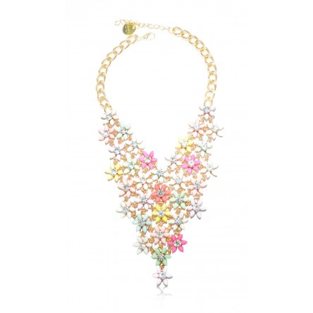 FLEUR STATEMENT NECKLACE MULTI-HUED