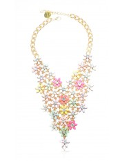 FLEUR STATEMENT NECKLACE MULTI-HUED - Sold Out