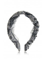 AZALEA BEADED HEADBAND BLACK