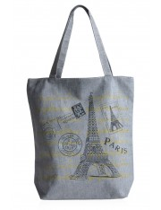 LOVE PARIS SOFT GREY SHOULDER BAG