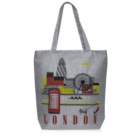 POP LONDON CANVASS SHOULDER BAG