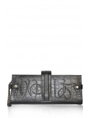 LIUCIA HIRAGANA LEATHER CLUTCH BAG- Sold Out