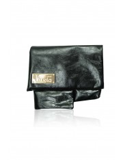 ORIGAMI LEATHER BAG JET BLACK