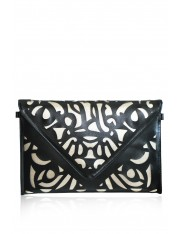 ARON DIABLO FAUX LEATHER LASER-CUT CLUTCH - Sold Out