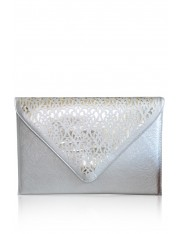 ABRI FAUX LEATHER LASER-CUT CLUTCH - Sold Out