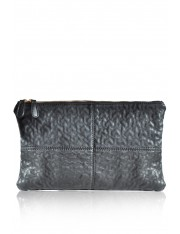 MELINE FAUX LEATHER CLUTCH SHOULDER BAG