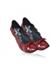 LISLE PATENT KITTEN HEELS OXBLOOD RED
