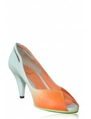 SUNSET LEATHER HEELS ORANGE CRUSH - Sold Out