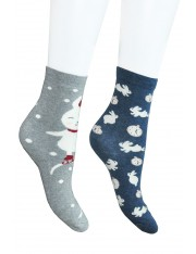 SET OF 2 BUNNY COTTON SOCKS - Sold Out