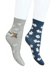 SET OF 2 SWEET COTTON SOCKS - Sold Out