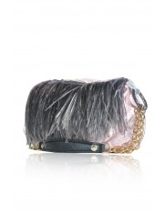 ALSACE FEATHERED OBI SHOULDER BAG - Pink