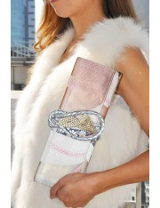 Ai.2 Obi Knot Leather Straps Clutch Bag