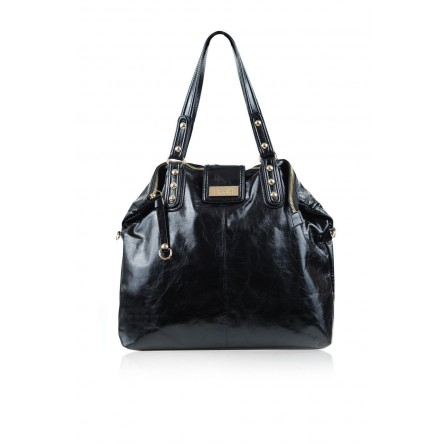 Kaia Leather Bag Jet Black