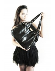 Kaia Leather Bag Jet Black