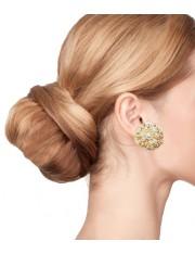 SWIRL HAMMERED CRYSTAL EARRINGS