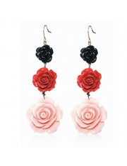 Ava Trois Rose Coral Earrings