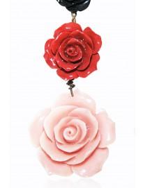 Ava Trois Rose Coral Earrings